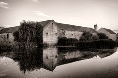 Old Fortified Farm Compound in French Countryside Royalty Free Stock Photography