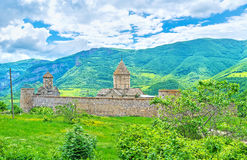 The old fortified monastery in Tatev Royalty Free Stock Images
