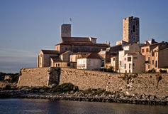 Old fortified part of Antibes. Old fortified part of French city Antibes in morning light Royalty Free Stock Photos