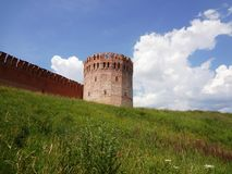 Old fortified wall on the hill Stock Photos