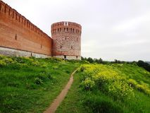 Old fortified wall on the hill Royalty Free Stock Photography