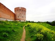 Old fortified wall on the hill Royalty Free Stock Image