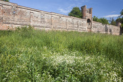 Old Fortified Wall in the historic town of Landsberg Stock Photography