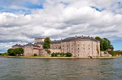 Old fortress. Surrounded by water stock photo