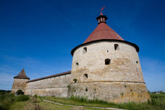 Old Fortress. The old fortress in the Shlisseldurg Russia Royalty Free Stock Images