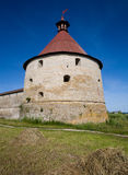 Old Fortress. The old fortress in the Shlisseldurg Russia Stock Photo