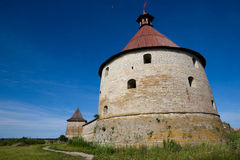Old Fortress. The old fortress in the Shlisseldurg Russia Stock Photography