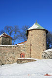 Old fortress. The medieval Akershus Fortress in Oslo, Norway stock images