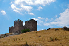 Old fortress. In the city the Sudak Royalty Free Stock Photography