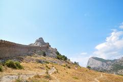 Old fortress. In the city the Sudak Royalty Free Stock Image
