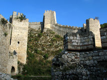 Old fortress. Ancient fortification in Golubac, Serbia Royalty Free Stock Photography