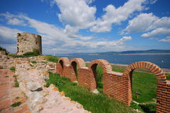 Old fortress. Nesebar ruins of old fortress, Bulgaria royalty free stock photography