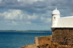 Old Fortress. Fortification in the beach, Bahia - Brazil stock photography