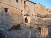 Old fortress aboce finalborgo village in italy Stock Image