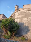 Old fortress aboce finalborgo village in italy Royalty Free Stock Photography