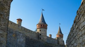 Old Fortress in the Ancient City of Kamyanets-Podilsky Royalty Free Stock Image