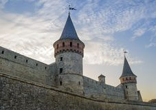 Old Fortress in the Ancient City of Kamyanets-Podilsky Royalty Free Stock Images