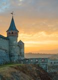 Old Fortress in the Ancient City of Kamyanets-Podilsky Stock Images