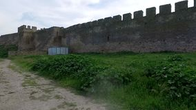 Old fortress in Belgorod-Dniester, Ukraine stock video