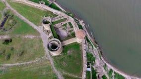 Old fortress in Belgorod-Dniester, Ukraine stock video footage