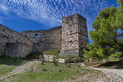 Old fortress in Berat in summertime, Albania royalty free stock photography