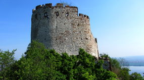 Old fortress. With the blue background Stock Photos
