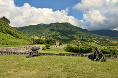 Old fortress on Brimstone Hill in St Kitts Royalty Free Stock Image