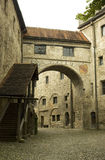 Old fortress in Burghausen. Inside a medieval fortress in Bavaria, Germany stock images