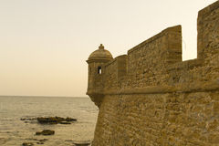 Old fortress of Cadiz. Royalty Free Stock Image