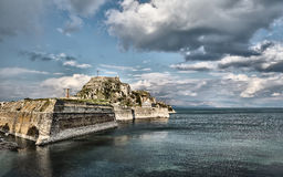The Old Fortress in the city of Corfu Stock Photos