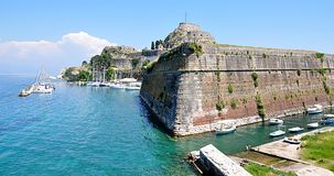 Old fortress city of Corfu, Greece. View of the old fortress town of Corfu, Greece Stock Image