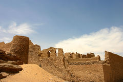 Old fortress close to Aswan Stock Image
