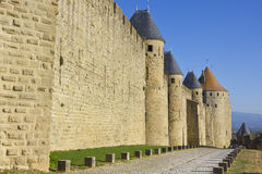 Old fortress cobble stone path Royalty Free Stock Images
