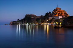The Old Fortress of Corfu in Corfu, Greece Stock Images