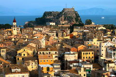 The Old Fortress of Corfu in Corfu, Greece Royalty Free Stock Photos