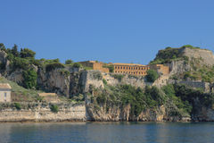 Old fortress in Corfu, Greece Royalty Free Stock Images