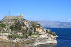Old fortress in Corfu Royalty Free Stock Images