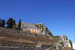 Old fortress Corfu island Royalty Free Stock Photography