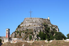 Old fortress on Corfu island Stock Photography