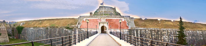 The old fortress, Corfu island, Greece Royalty Free Stock Photography