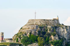 Fortress overlooking Corfu, Greece. Fortress on hill overlooking Corfu, Greece Royalty Free Stock Photos