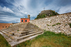 The old fortress, Corfu island, Greece Stock Photography