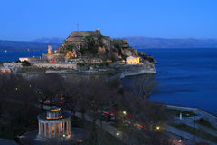 Old fortress in Corfu Stock Photography