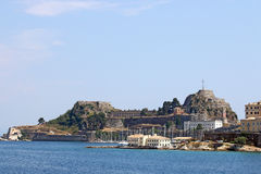 Old fortress Corfu town Royalty Free Stock Images