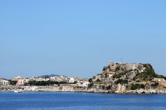 Old fortress and Corfu town Stock Photo