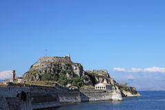 Old fortress Corfu town Royalty Free Stock Image
