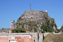 Old fortress Corfu town Stock Image