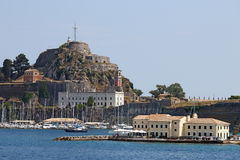 Old fortress Corfu town Royalty Free Stock Photography