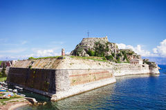 Old fortress in Corfu town, Greece Stock Image