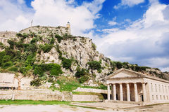 Old fortress in Corfu town, Greece. Beautiful view of old fortress in Corfu town, Greece Royalty Free Stock Photos